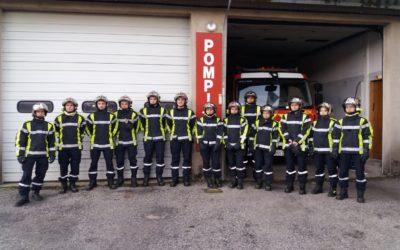 Stage de formation incendie des Sapeurs Pompiers Volontaires de l'Aigoual