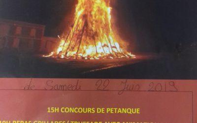 Le traditionnel Feu de la St Jean organisé par les SP de Lanuéjols